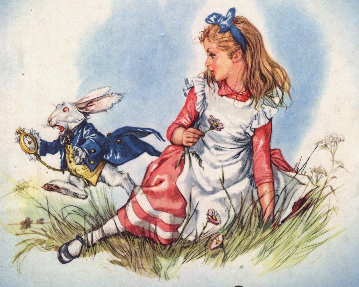 Рисунки о сказке приключении алисы